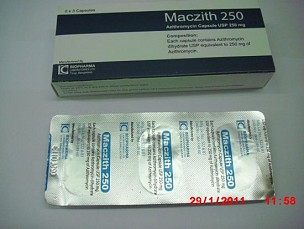 Azithromycin  Capsules USP 250mg <em>(Maczith 250mg)</em>