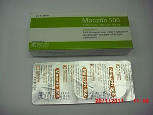 Azithromycin Tablet USP 500mg <em>(Maczith 500mg)</em>