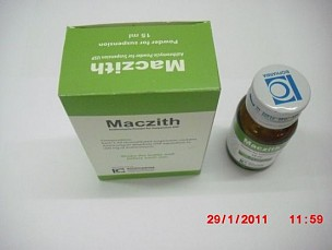 Azithromycin Suspension USP 15ml  <em>(Maczith syrup 15ml)</em>